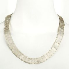 """Enric MAJORAL at Patina Gallery. Silver Necklace, """"Plans Collection"""", Small, 17"""" (hva)"""