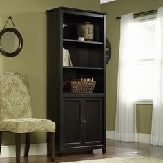 Sauder Edge Water Library with Doors