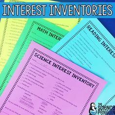 Free! Upper Elementary Interest Inventories