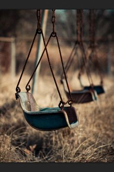 I remember these old swings from when I was a kid. :)