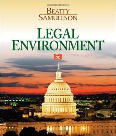 Test bank for introduction to business law 5th edition by beatty legal environment 5th edition by jeffrey f beatty author isbn 13 fandeluxe Image collections