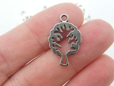 10 Tree charms  double sided  21 x 14mm antique by nicoledebruin, $2.50