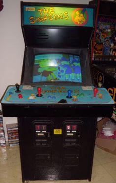 1991 The Simpsons Arcade 4 Player Standup Game Machine Konami