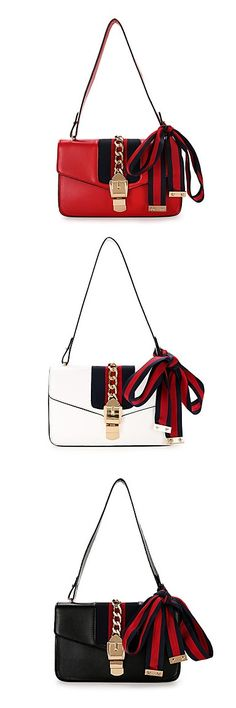 Charming over shoulder bag for just $34.99. Comes in white, black and red.