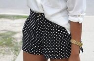 Polka dot shorts, button down & a gold watch:)