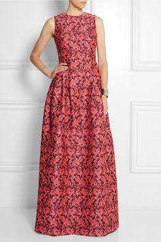 ERDEM Bayleigh floral-jacquard gown