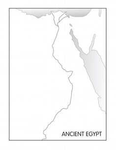 Ancient Egypt outline map