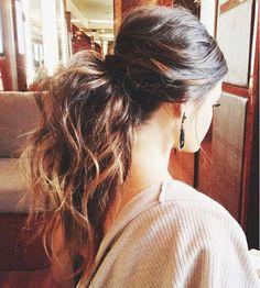 Voluminous ponytail perfection