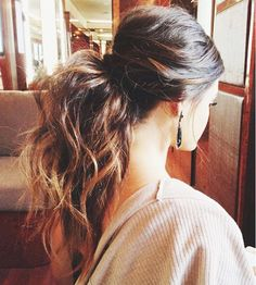 Voluminous ponytail perfection