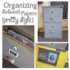Organizing School Papers: with kids as lovely as mine bringing home masterpieces and brilliance, I also need this! Sad but so true. I'm awash in school treasures!