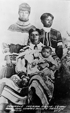 Ingram Billie's family portrait 1910, Seminole (?) by windonthewater, via Flickr