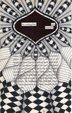 Zentangle Drawings on Recycled Vintage Book Pages. By Jo Newsham. Zentangle Drawings, Doodles Zentangles, Doodle Drawings, Doodle Art, Doodle Patterns, Zentangle Patterns, Art Therapy Directives, Found Poetry, Poetry Art