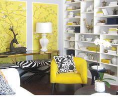black + white + yellow--design by maison21