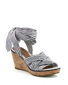b4300c885a3b82 Loving the stripes … Nautical WedgesNautical ShoesNautical ...