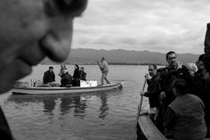 On the boat in Messolongi lagoon