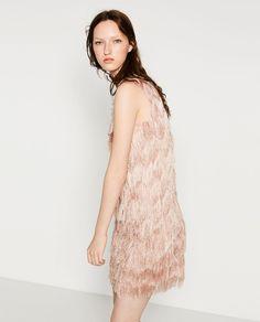 Image 3 of FRINGED DRESS from Zara