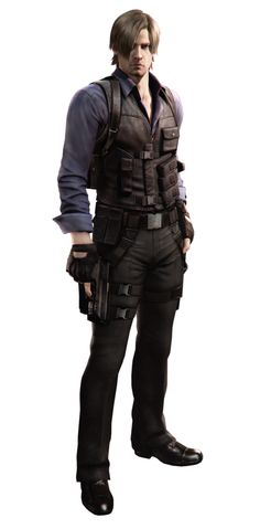 RE6 - Leon Costume 2 - Professional Render by Allan-Valentine on DeviantArt