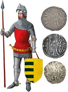 Radu I Voivode of Wallachia XIVth century - reconstruction based on coins and historical records