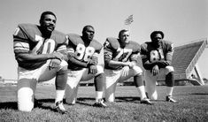 """""""The Purple People Eaters"""" (Nickname given to the defensive, front line of the Minnesota Vikings during the 1960's and 1970's. They're considered one of the best front lines in NFL history.)"""