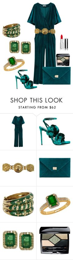 """Luck of The Irish"" by beth-hayward-fillioe ❤ liked on Polyvore featuring MANGO, Marco de Vincenzo, Versace, Jimmy Choo, Lord & Taylor, Effy Jewelry, Christian Dior and Givenchy"