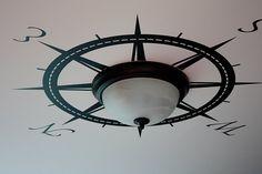 Compass Rose ceiling light