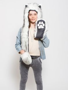 What's Your Spirit Animal? ..... HUSKY (Faux Fur) .................... Traits: Brave > Athletic > Adventurous .............................. Find out more about the #Husky #Spirit #Animal at: https://www.spirithoods.com/kids/girls/husky/782/ $69 #Gifts #Fashion #SpiritHood #SpiritHoods #Hoodie #FauxFur #Paws #Scarf #Kids #Girls