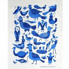 Tea Towel by Kauniste Laululinnut