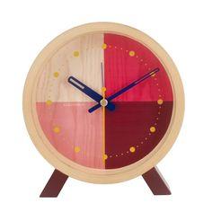 Tabletop Clocks, Wood Clocks, Red Wall Clock, Bedroom Clocks, Red Desk, Milk Shop, Wood Sizes, Glass House, Home Decor Trends