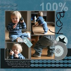 Great layout--just change it to girl Baby Boy Scrapbook, Baby Scrapbook Pages, Scrapbook Templates, Scrapbook Page Layouts, Scrapbook Paper Crafts, Scrapbook Cards, Scrapbook Storage, Scrapbook Designs, Scrapbook Sketches
