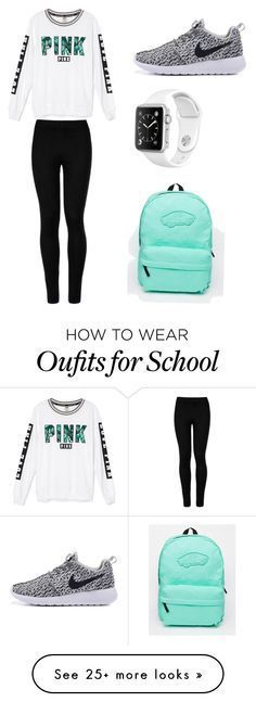 School day by mlkunz04 on Polyvore featuring Victorias Secret, Wolford and Vans