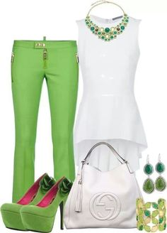 Green and White.love the combo