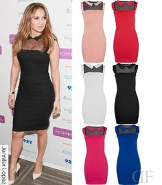NEW WOMENS LADIES CELEBRITY SHEER JLO COLLARED BODYCON MINI PARTY DRESS 8-14