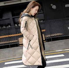 Fashion Winter Parka Women Warm Coat Long Down Jacket Hooded Overcoat | eBay