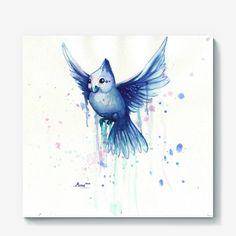 Холст «BLUE BIRD», Автор: Маргарита Пескина, Цена: 2200 р.