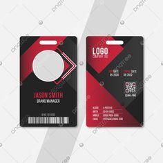 بطاقة هوية المكتب باللون الأسود الأحمر Co Sleeper, Brand Management, Cards, Maps, Playing Cards, Branding