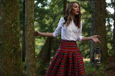 Waltzing Matilda Skirt Red Plaid-LIMITED EDITION