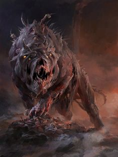 Garm - (Ancient Scandinavian – Garmr) is a giant four eyes dog guarding Helheim (the land of the dead).