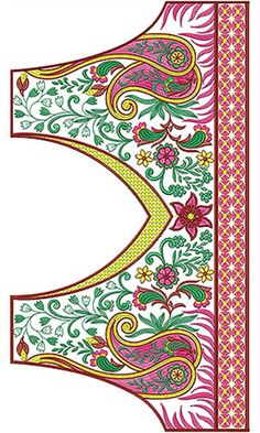 6747 Blouse Folk Embroidery, Indian Embroidery, Embroidery Dress, Beaded Embroidery, Machine Quilting Designs, Machine Embroidery Designs, Embroidery Patterns, Latest Embroidery Designs, Textile Patterns