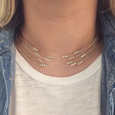 We went a little collar-crazy this week. #madeinLA #zoechicco #xoZC