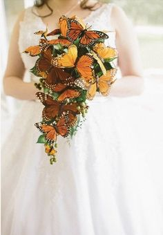 See more images from stunning bridal bouquets that are NOT flowers on domino.com