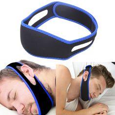 Anti Ronco Chin Strap Snore Belt Parar Ronco Apnéia Do Sono Tiras de Apoio do queixo para o Homem Mulher cuidados de Saúde de Dormir Ajuda ferramentas