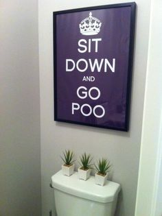 I laughed out loud and I am making one for my office bathroom.