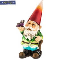Polystone Gnome with Butterfly