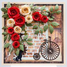 Hand made flowers card