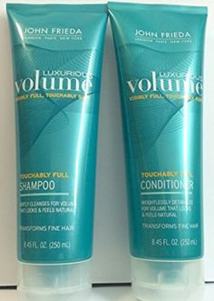 JOHN FRIEDA COMBO Luxurious Volume Touchably Full, 8.45 Oz Each, Shampoo and Conditioner. Pack of 1 Set. -- For more information, visit image link. (This is an Amazon affiliate link)