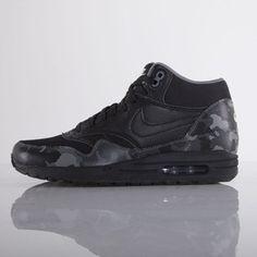 Nike buty Air Max 1 Mid FB black / black - cool grey - ivory