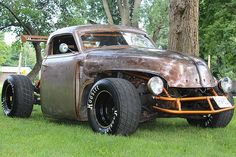 "Despite being radically unconventional, today's ""rat rods"" have become relatively formulaic and dare we say it…conventional. Chop an old coupe or pickup, lay it flat, add a big engine, stretch it out, and voila! A rat rod.  This jaw-dropping creation bucks that trend however. It began life as a 1947 Chevrolet pickup truck and along"