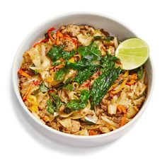 This stir fry of rice noodles and ground pork gives Pad Thai a serious run for its money.