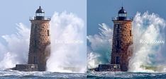 How two photographers captured the same millisecond in time   On March 3rd during a large East Coast winter storm I headed to the ocean to capture some wave action. My travels eventually took me to Great Island Commons in New Castle NH where Whaleback Lighthouse is prominently featured 0.8 miles offshore. I was hoping to capture big waves crashing around the lighthouse and Mother Nature didnt disappoint.  Great Island Common is a wide open park where people come to picnic during the summer…