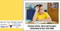 Physical Activity, Affect and Executive Functioning in Boys with ADHD - pinned by @PediaStaff – Please Visit  ht.ly/63sNt for all our pediatric therapy pins